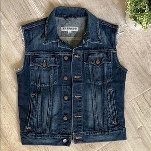 EXPRESS women's denim vest, Size Small